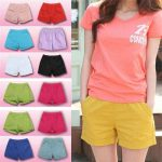 Hot Women Plus Size Casual Candy Color Shorts